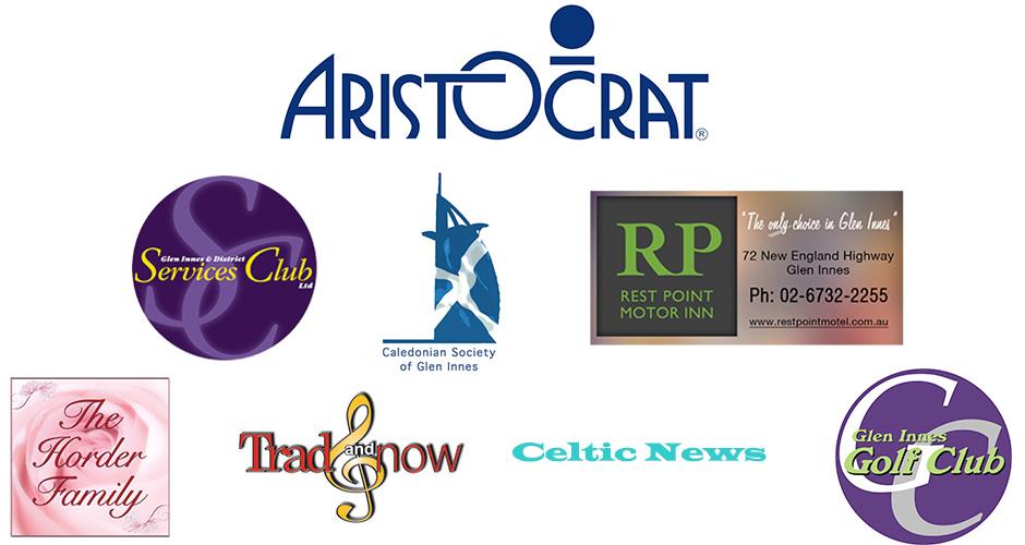 Australian Celtic Music Awards 2016 sponsors