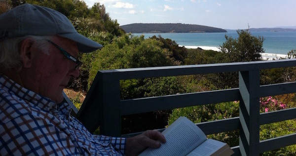 Graham Innis in Tasmania on the search for his ancestors