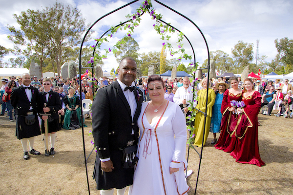 Wedding at the Australian Standing Stones during the Australian Celtic Festival 2016