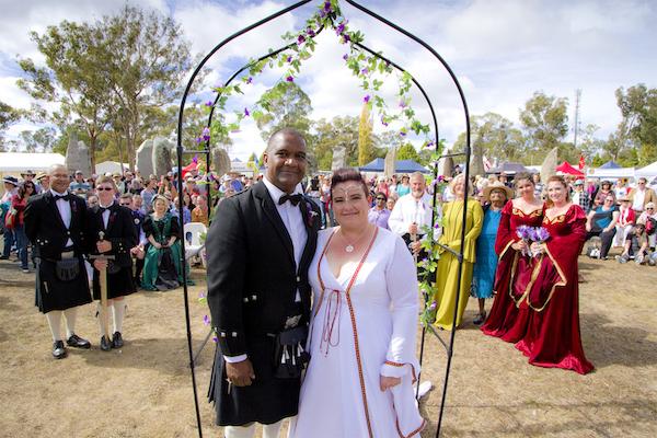 Wedding at the Australian Standing Stones during the Australian Celtic Festival 2016